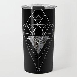 Triangle texture geometry Travel Mug