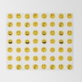 Cute Emoji pattern Throw Blanket