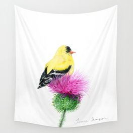 Little Goldfinch by Teresa Thompson Wall Tapestry