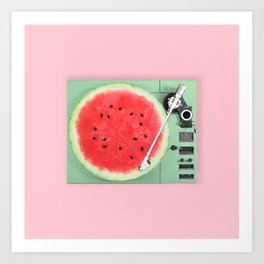 For the Record: I Love Melons! Art Print