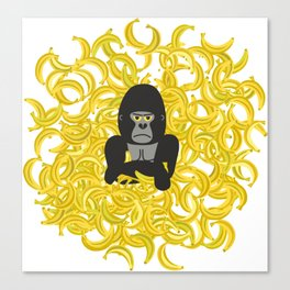 Gorillas and bananas by unPATO Canvas Print