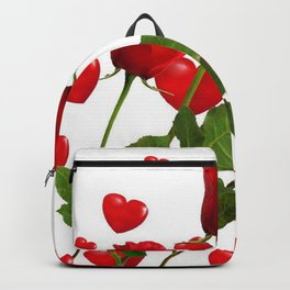 RED  ROSES & VALENTINES HEARTS  DESIGN Backpack