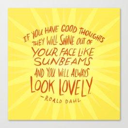 Roald Dahl on Positive Thinking Canvas Print