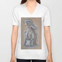 brooklyn V-neck T-shirts featuring Brooklyn by Swan_Art88
