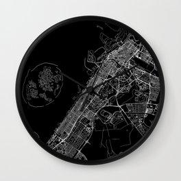 Dubai Black Map Wall Clock