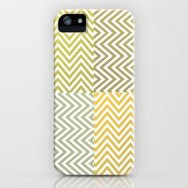 Geometric Lines Pattern Yellowish iPhone Case