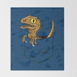 Pocket Raptor (Jurassic Park Velociraptor) Throw Blanket