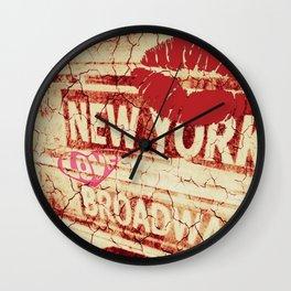 Lovin' New York Wall Clock