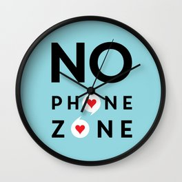 No Phone Zone Wall Clock