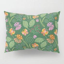 Spring Flowers and Butterflies Pillow Sham