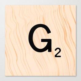 Scrabble Letter G - Scrabble Art and Apparel Canvas Print