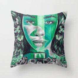 sza Throw Pillow