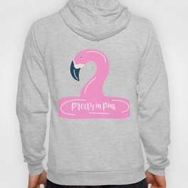 Pretty in Pink Flamingo Breast Cancer Awareness Graphic print Hoody