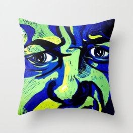 My emotive face in the spring Throw Pillow