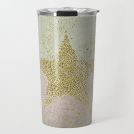 Sparkling Glamorous Golden Star Travel Mug