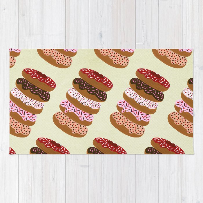 Stacked Donuts on Cream Rug
