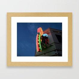 Downtown Lights  Framed Art Print