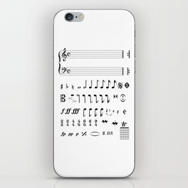 Musical Notation iPhone Skin