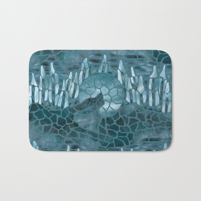 Moonlight Story (Teal) Bath Mat
