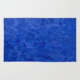Dark Blue Ombre Burnished Stucco - Faux Finishes - Venetian Plaster Rug