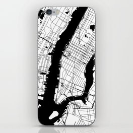 New York City Minimal Map iPhone Skin