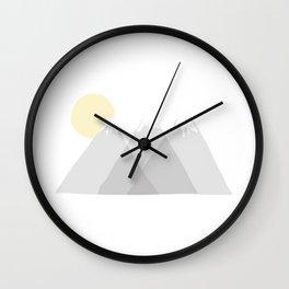Mountainous  Wall Clock