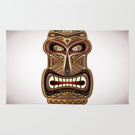 Africa Ethnic Mask Totem Rug