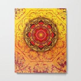 Rocks Mandala Metal Print