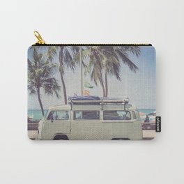 bus, van, beach, hippie, tropical, summer, travel, explore, adventure, wanderlust, travel van, boho Carry-All Pouch