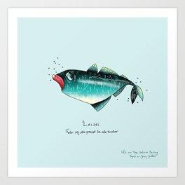 Triste dyr: Leisei Art Print