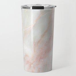 Softest blush pink marble Travel Mug