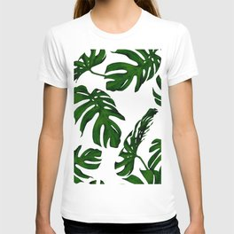 Simply Tropical Palm Leaves in Jungle Green T-shirt