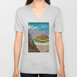 National Parks 2050: Crater Lake Unisex V-Neck