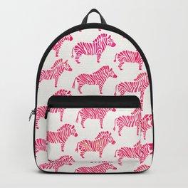 Zebras – Pink Palette Backpack