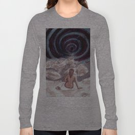 At the Vortex of Her Thoughts. Long Sleeve T-shirt