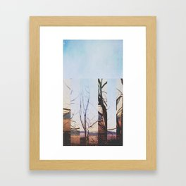 Steel Tree Framed Art Print