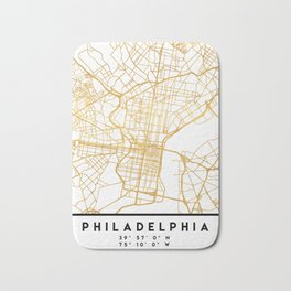 PHILADELPHIA PENNSYLVANIA CITY STREET MAP ART Bath Mat
