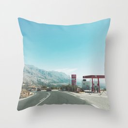 Gas Station Throw Pillow