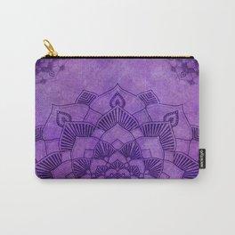 Deep Purple Lotus Mandala Carry-All Pouch