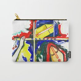 Lord Krishna & Radha - Handmade Water Color Artwork Carry-All Pouch