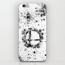 Super Smash Bros Ink Splatter iPhone Skin