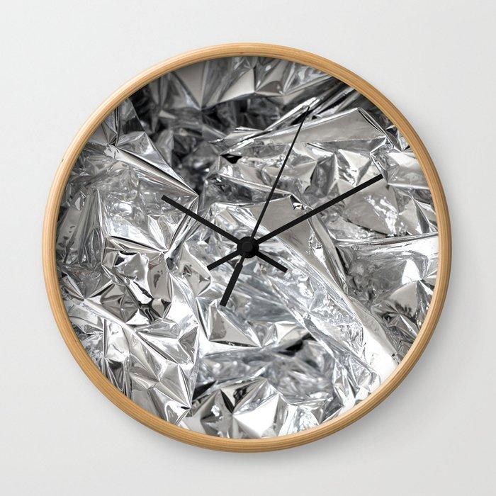 Silver Mylar Balloon Wall Clock