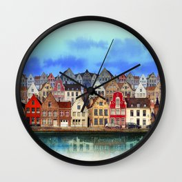 House, Bruges, Belgium Wall Clock