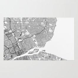 Detroit White Map Rug