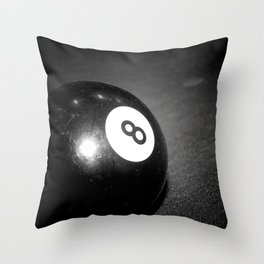 Eight Ball-Black Throw Pillow