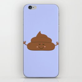Meditating poo iPhone Skin