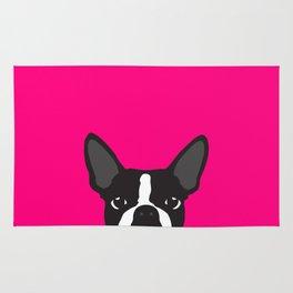Boston Terrier Hot Pink Rug