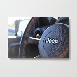 Jeep Wheel Metal Print