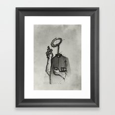 Trust With No Head And Half Finger! Framed Art Print