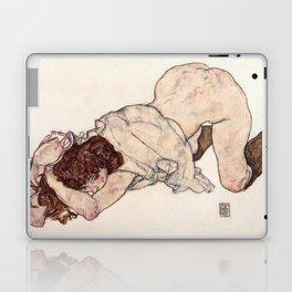 Kneeling Girl, Resting on Both Elbows Laptop & iPad Skin
